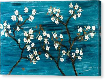 Cherry Blossoms Canvas Print by Gretchen Martini