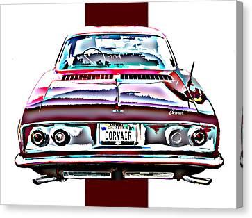 Chevy Corvair Rear Study Canvas Print by Samuel Sheats