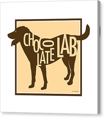 Chocolate Lab Canvas Print by Geoff Strehlow