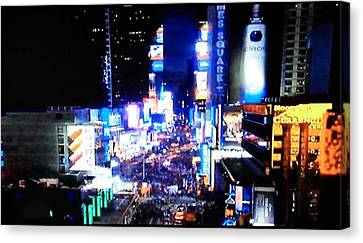 City Lights Canvas Print by Val Oconnor