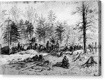 Civil War: Spotsylvania Canvas Print by Granger