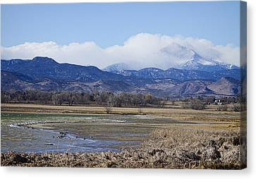 Clouds Hanging On The Continental Divide Colorado Rocky Mountain Canvas Print by James BO  Insogna