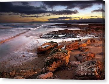 Coastline At Twilight Canvas Print by Carlos Caetano