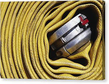 Coiled Fire Hose Canvas Print by Skip Nall