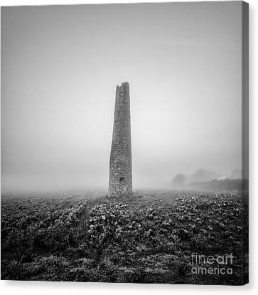 Cornish Mine Chimney Canvas Print by John Farnan