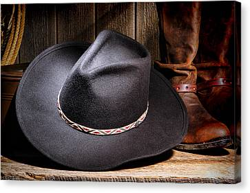 Cowboy Hat Canvas Print by Olivier Le Queinec