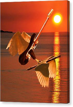 Death Of A Flute Canvas Print by Eric Kempson