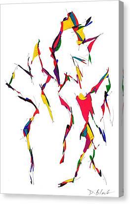 Definism Design 12 Canvas Print by Darrell Black
