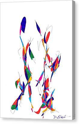 Definism Design 3 Canvas Print by Darrell Black