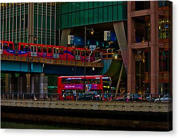 Docklands London Canvas Print by Dawn OConnor