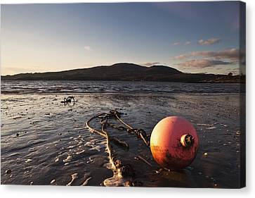 Dumfries, Scotland A Rope Tied To A Canvas Print by John Short
