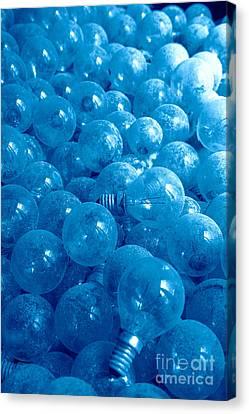 Dusty Light Bulbs Canvas Print by Gaspar Avila