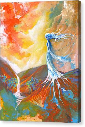 Earth Angel Canvas Print by Valerie Graniou-Cook