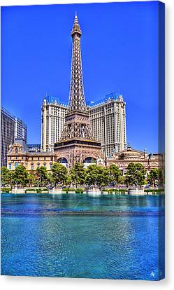 Eiffel Tower Las Vegas Canvas Print by Nicholas  Grunas