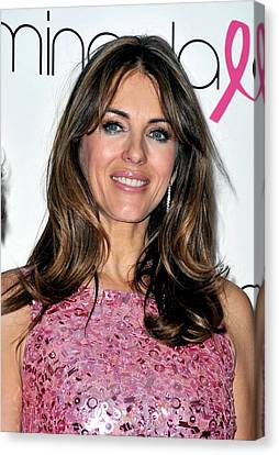 Elizabeth Hurley At A Public Appearance Canvas Print by Everett