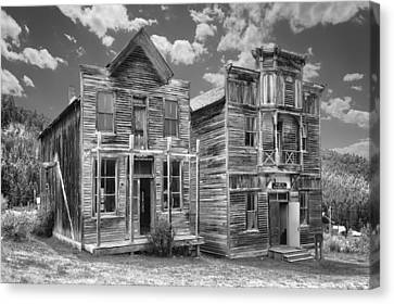 Elkhorn Ghost Town Public Halls - Montana Canvas Print by Daniel Hagerman