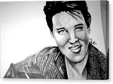 Elvis Presley  Canvas Print by Pauline Murphy