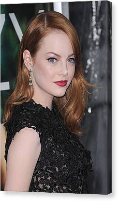 Emma Stone Wearing Fred Leighton Canvas Print by Everett