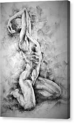 Erotic Sketchbook Page 3 Canvas Print by Dimitar Hristov