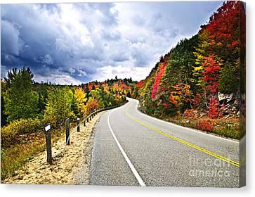 Fall Highway Canvas Print by Elena Elisseeva