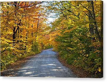 Fall In New England Canvas Print by Glenn Gordon