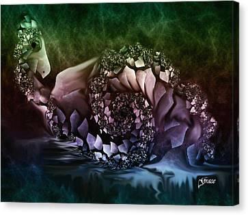 Fantasy Bird Canvas Print by Julie Grace