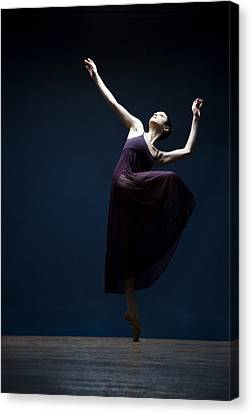 Female Ballet Dancer Dancing Canvas Print by David Sacks