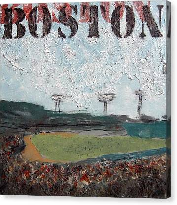 Fenway Canvas Print by Romina Diaz-Brarda