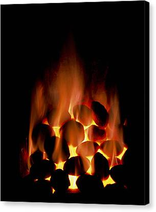 Fire Of Smokeless Fuel Canvas Print by Cordelia Molloy