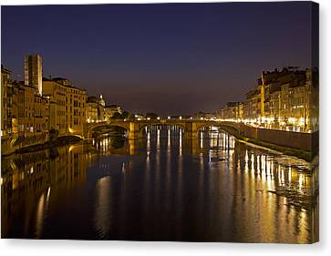 Florence - Ponte San Trinita Canvas Print by Joana Kruse
