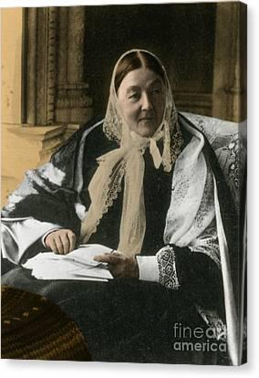 Florence Nightingale, English Nurse Canvas Print by Science Source