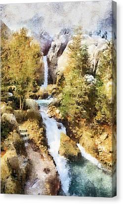 Florida Falls Canvas Print by Nicholas Evans