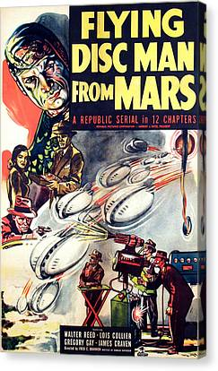 Flying Disc Man From Mars, 1950 Canvas Print by Everett