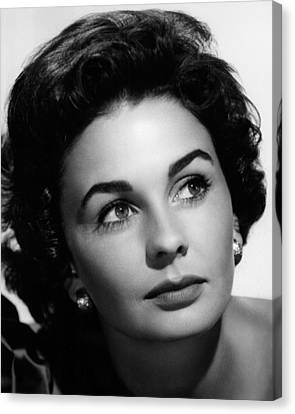 Footsteps In The Fog, Jean Simmons, 1955 Canvas Print by Everett