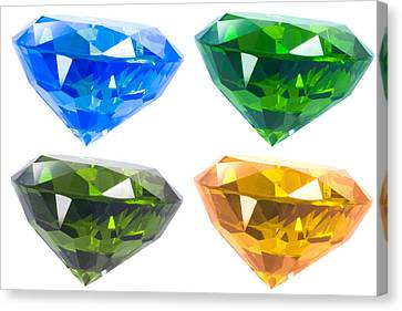 Four Diamond Canvas Print by Atiketta Sangasaeng