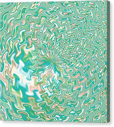 Fractal Abstract Flower Canvas Print by Gina Lee Manley