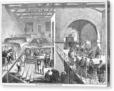 France: Wine Harvest, 1871 Canvas Print by Granger