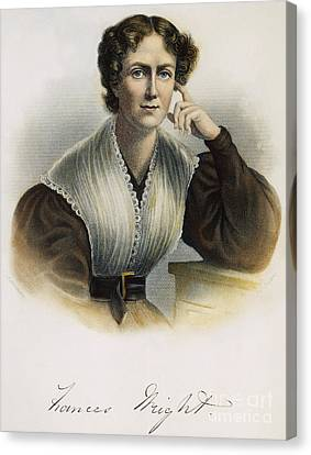 Frances Wright (1795-1852) Canvas Print by Granger