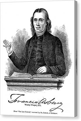 Francis Asbury (1745-1816) Canvas Print by Granger