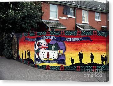 Freedom Corner Mural Belfast Canvas Print by Thomas R Fletcher