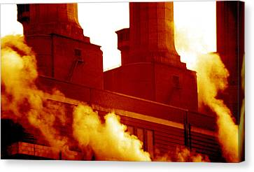 Fulham Power Station Canvas Print by Victor De Schwanberg