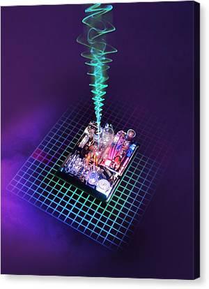 Future Computing, Conceptual Image Canvas Print by Richard Kail