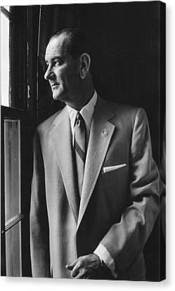 Future President Lyndon Johnson Canvas Print by Everett