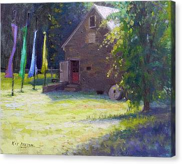Gallery At Prallsville Mill Canvas Print by Kit Dalton