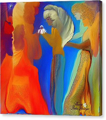 Gathering Of Angels Canvas Print by Sherri  Of Palm Springs