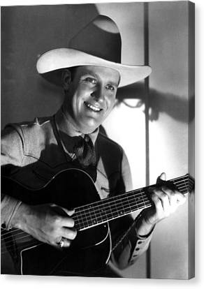Gene Autry, C. 1940s Canvas Print by Everett