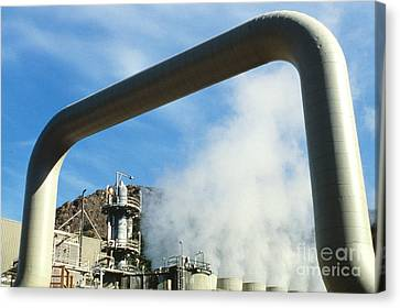 Geothermal Power Plant Canvas Print by Science Source