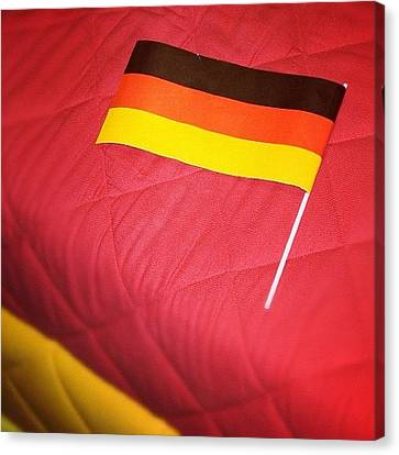 Sofa Canvas Print featuring the photograph German Flag And Colors by Matthias Hauser