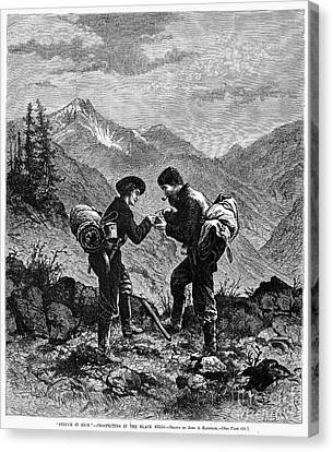 Gold Prospectors, 1876 Canvas Print by Granger
