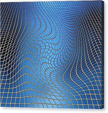 Gravity Waves In Space-time, Artwork Canvas Print by Victor De Schwanberg